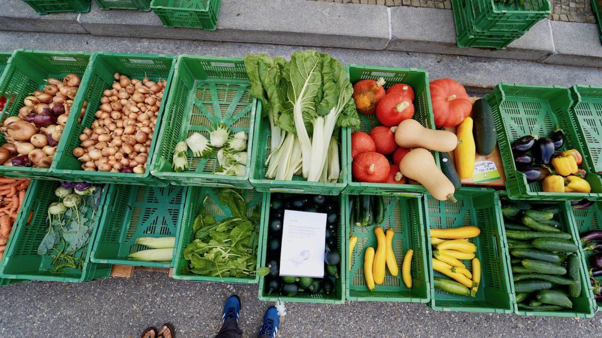 Gemüseauswahl am Biomarkt in Heiden